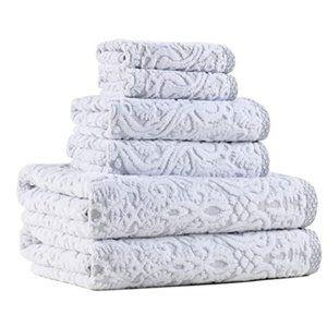 """Emma"" Textured Bath Towel Set"